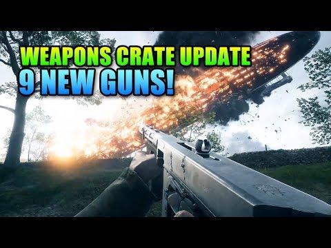 9 New Guns Weapons Crate Update Battlefield 1