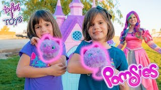 Kate & Lilly Spend 24 HOURS with POMSIES toys from Princess Lollipop!