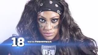 Top 20 das musas da Liga de Futebol Americano Feminino (NFL).