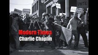 Charlie Chaplin - Protest Scene - Modern Times (1936)