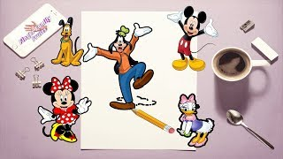 Mickey Mouse and Friends Painting Finger Family for Kids Nursery Rhymes ♥♥