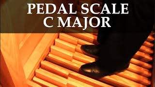 How to Play the C Major Scale with the Pedals on the Organ (Vidas Pinkevicius)