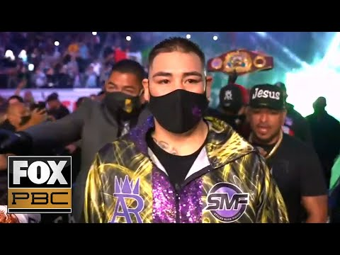 Andy Ruiz Jr. and Chris Arreola enter ring before heavyweight fight PBC ON FOX