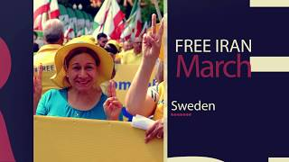 Mujahedin-e Khalq MEK supporters hold Free Iran rally in Stockholm