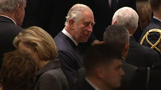 Prince Charles and Other World Leaders Attend President George H.W. Bush