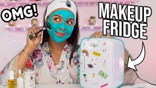 Beauty Busters: I Tried a Makeup/Skincare FRIDGE! (AMAZING!)
