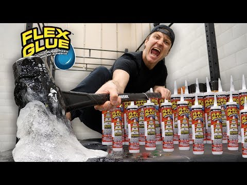 TESTING THE STRONGEST GLUE IN THE WORLD WHAT HAPPENS WHEN YOU MIX FLEX GLUE AND FLEX TAPE