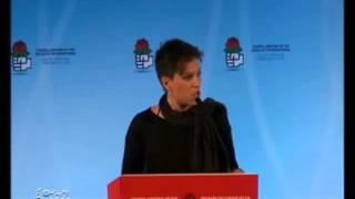 Excelente discurso de una joven, para despertar a los políticos de izquierda.