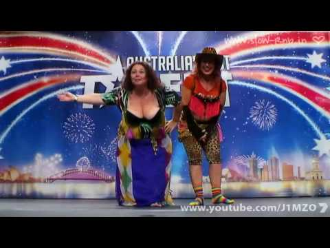 Australia s Got Talent Idell Wadley Belly Dancing Boob Lady Cleofatra