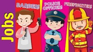 Learn Jobs & Occupations for Kids | Video Flash Cards | Kindergarten, Preschool | Fun Kids English