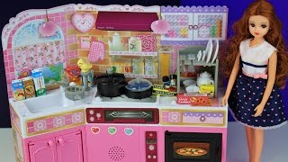 Toy kitchen pretend play food cooking baking Japanese Barbie toy playset