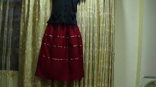 Maxi Skirt Cutting and Stitching