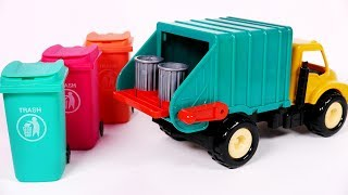 Learn Colors with Garbage Truck Toy Surprises for Kids and Children