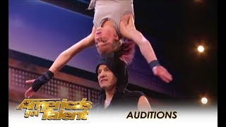 Sergey & Sasha: Father Daughter EXTREME Danger Acrobatic Duo! WOW! | America