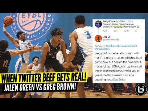 BASKETBALL TWITTER BEEF GOT REAL Jalen Green VS Greg Brown