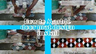 Marble flooring doormat design in India work