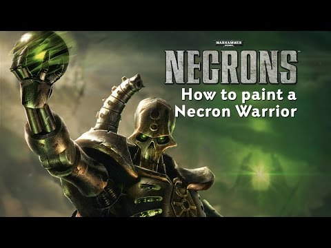 Necrons - How to paint a Necron Warrior.
