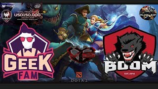 [DOTA 2 PH LIVE] GEEK FAM vs BOOM ID |Bo3| Asia Pacific PRedator League 2018