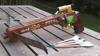 Homemade pistol crossbow tutorial (made mostly with hand tools)