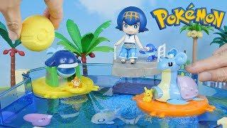 Pokemon Water Park | Candy Toys & PokeBall Bath Bomb - Surprise Toys For Kids