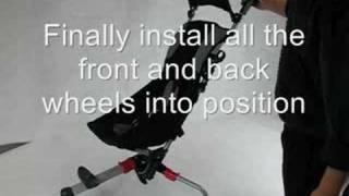 Folding & Unfolding 3 Wheel baby stroller