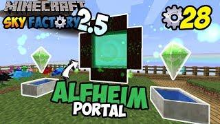 PORTAL ALFHEIM! ~ Minecraft Sky Factory Indonesia ep. 28