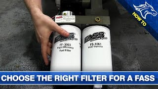 How to Choose the Right Filter for a FASS Fuel System