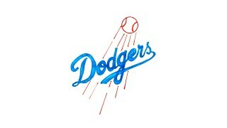 How to Draw the Los Angeles Dodgers Logo