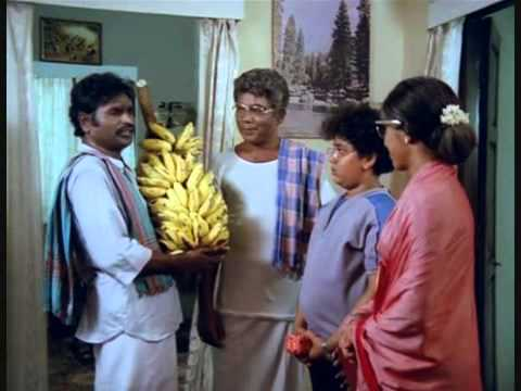 Tamil Comedy   Bhagyaraj meets his brother in law in Chinna Veedu