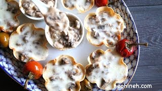 Mushroom Julienne - Holiday Appetizer Recipes - Heghineh Cooking Show