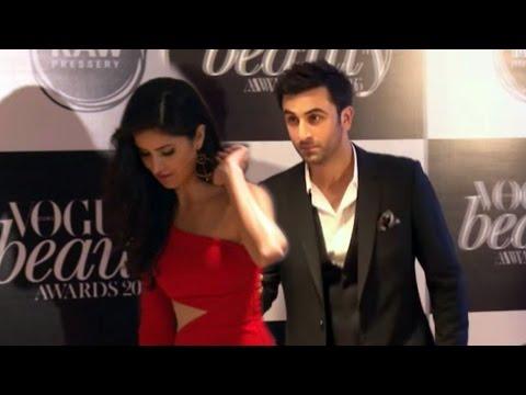 Ranbir Kapoor & Katrina Kaif Together At Vogue Beauty Awards 2016