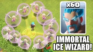 Clash Of Clans - IMMORTAL ICE WIZARD!! - 1 Ice Wizard All Healers! - Update / New Troop Gameplay!