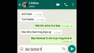 after breakup conversation between bf and gf [ HINDI ] 2017 A TRUE WHATS APP CHAT