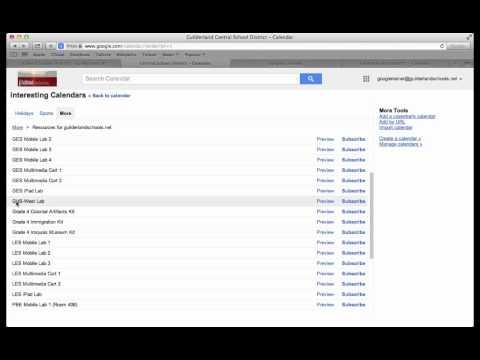 Comprehensive google Calendar tutorial