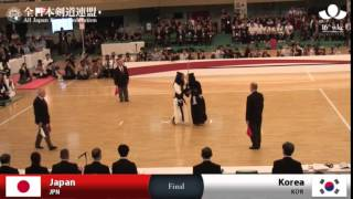 (JPN)Japan (4)3 - 0(1) Korea(KOR) - 16th World Kendo Championships - Women's Team_FINAL
