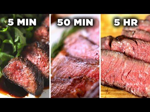 5 Minute Vs. 50 Minute Vs. 5 Hour Steak • Tasty