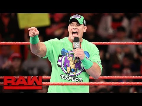 Xxx Mp4 John Cena Wants The Undertaker To Return For One More Match At WrestleMania Raw March 12 2018 3gp Sex