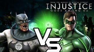 Injustice Gods Among Us - Blackest Night Batman vs Green Lantern with Lore & Skins