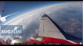 MiG-29 Edge of Space flight - Outside camera #2 - full length