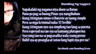 Wag Nyong Boto Si Duterte Hambog Ng Sagpro bernard monroid
