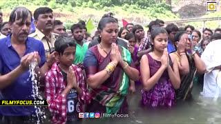 Actress Roja Family Unseen Video - Holy Dip At Krishna Pushkaralu - Filmyfocus.com