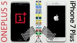OnePlus 5 vs. iPhone 7 Plus Speed Test