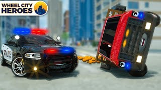 Police Car Helps Van full of Oranges | Wheel City Heroes | Street Vehicles Cartoon for Kids