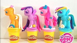 Play Doh MY LITTLE PONY Crie e decore seus pôneis - Make N' Style Ponies Set