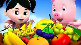 Fruits Song | 3D Rhymes | Farmees Nursery Rhymes | Video For Kids And Babies