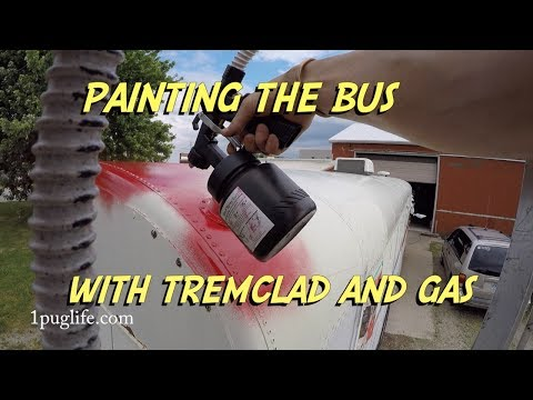 painting the bus