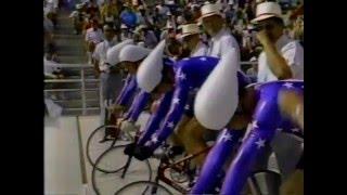 1984 Olympics Cycling 4000m Team Pursuit (semi final)