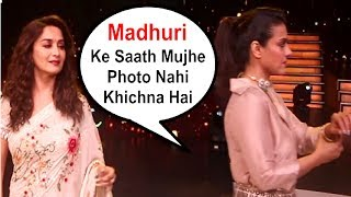 Kajol Throwing Tantrums At Madhuri Dixit When Asked For Photo Together At Dance Deewane Show