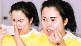 PEEL OFF EYEBROW TATTOO! First Impressions + Hourly Updates!