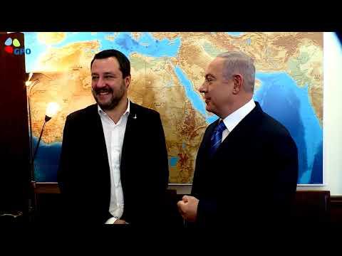 Xxx Mp4 PM Netanyahu Meets Italian Minister Of The Interior Matteo Salvini 3gp Sex